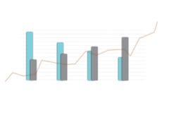 Análisis generado Digital de la carta de barra Foto de archivo libre de regalías