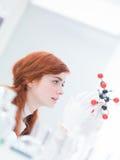 Análisis modelo molecular del ácido cítrico Imagen de archivo