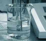 Análisis químico Imágenes de archivo libres de regalías