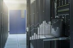 Análisis virtual del gráfico de la demostración de la consola de monitor en ce de los datos Imagenes de archivo