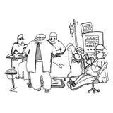 Anästhesiologe, der während der Operation stillsteht lizenzfreie abbildung