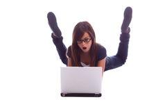 Anéantissement d'ordinateur portatif photos libres de droits