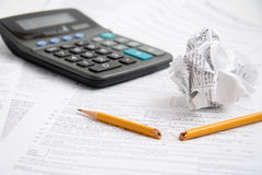Anéantissements de temps d'impôts Photo libre de droits