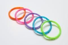 Anéis coloridos Fotos de Stock