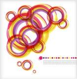 Anéis coloridos. Abstracção ilustração royalty free