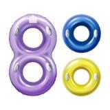 Anéis coloridos da nadada ilustração stock
