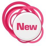 Anéis cor-de-rosa aleatórios novos ilustração royalty free