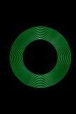 Anéis da luz verde Fotografia de Stock