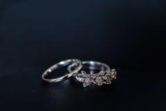 Anéis da noiva Fotos de Stock