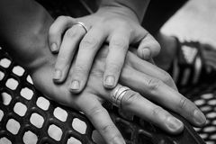 Anéis da promessa imagem de stock royalty free