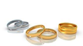 Anéis da vida do relacionamento Fotos de Stock Royalty Free