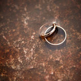 Anéis de casamento. foto de stock