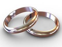 Anéis de casamento. Imagens de Stock