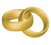 Anéis de casamento ilustração stock