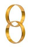 Anéis de casamento conectados Imagem de Stock Royalty Free