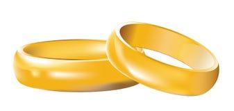 Anéis de casamento das faixas de casamento Foto de Stock Royalty Free