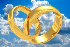 Anéis de casamento do ouro. Imagem de Stock