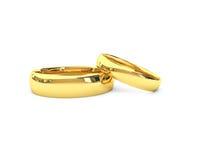 Anéis de casamento do ouro Foto de Stock
