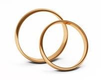 Anéis de casamento dourado ilustração stock