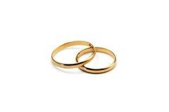 Anéis de casamento isolados Imagens de Stock