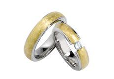Anéis de casamento isolados Fotos de Stock Royalty Free