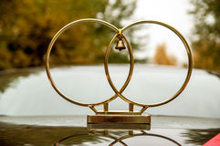 Anéis de casamento no carro Foto de Stock Royalty Free