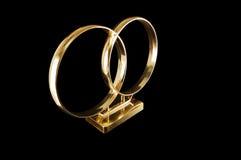 Anéis de casamento para o carro Fotografia de Stock Royalty Free