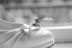 Anéis de casamentos Foto de Stock