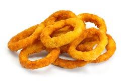 Anéis de cebola fritados Fotografia de Stock Royalty Free