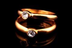 Anéis de diamante imagens de stock