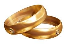 Anéis de diamante Foto de Stock Royalty Free