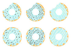 Anéis de espuma azuis ilustração stock