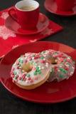 Anéis de espuma caseiros coloridos foto de stock