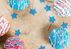 Anéis de espuma coloridos para 4o julho Imagem de Stock Royalty Free