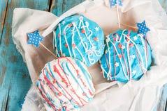 Anéis de espuma coloridos para 4o julho Foto de Stock Royalty Free