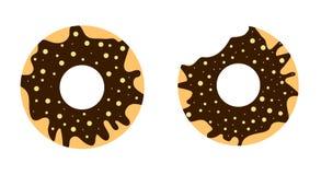 Anéis de espuma do chocolate ilustração do vetor