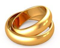 Anéis de ouro Imagem de Stock Royalty Free