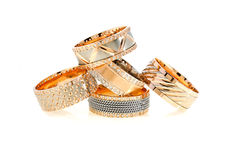 Anéis de ouro Foto de Stock