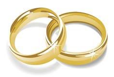 Anéis de ouro Imagens de Stock