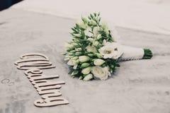 Anéis de ouro do casamento Imagens de Stock