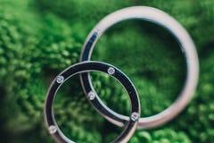 Anéis de ouro do casamento Imagem de Stock Royalty Free