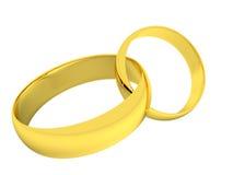 Anéis de ouro do casamento Fotos de Stock Royalty Free