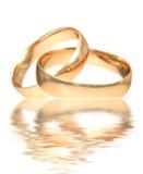 Anéis de ouro do casamento Imagens de Stock Royalty Free