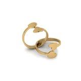 Anéis de ouro do casamento no fundo branco Foto de Stock