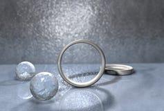 Anéis de prata Imagens de Stock Royalty Free