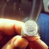 Anéis de prata imagens de stock
