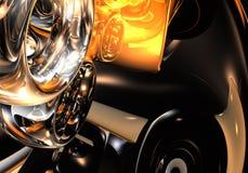 Anéis de Silver&orange Fotos de Stock