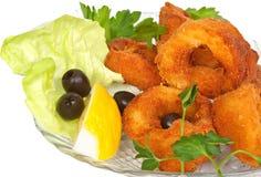 Anéis do calamar Fotos de Stock
