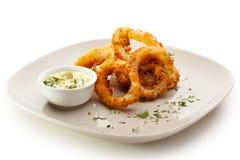 Anéis do Calamari Imagens de Stock