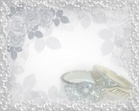 Anéis do convite do casamento ilustração do vetor